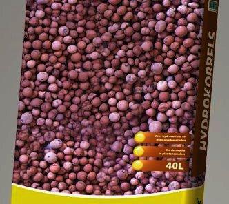 Florentus hydrokorrels in 10 en 40 liter zakken