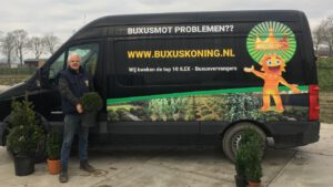 Thuisbezorgen met Buxuskoning of post nl,